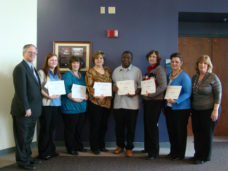 2010 Scholarship Recipients with Dr. Michael Green
